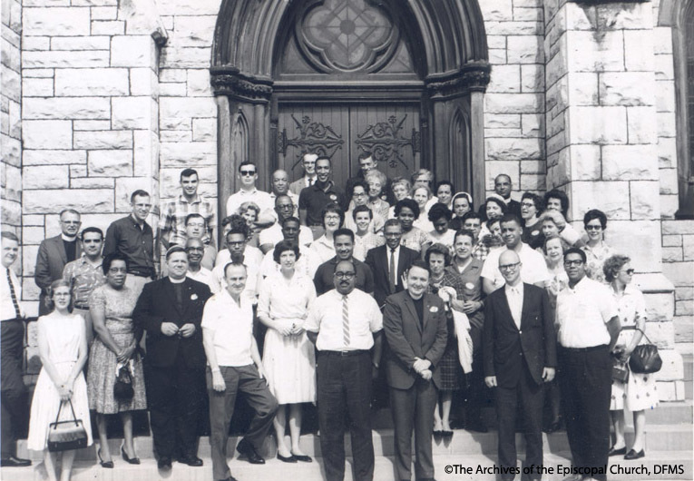 ESCRU Delegates Standing Outside A Cathedral