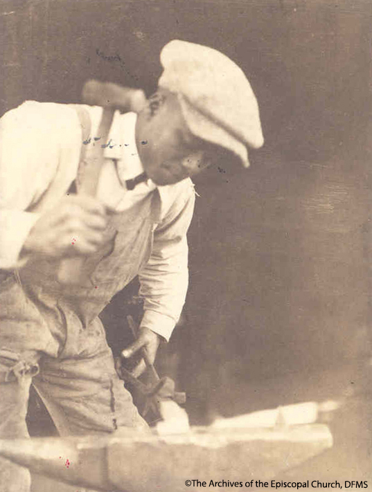 A Student Learning Blacksmithing At Okolona