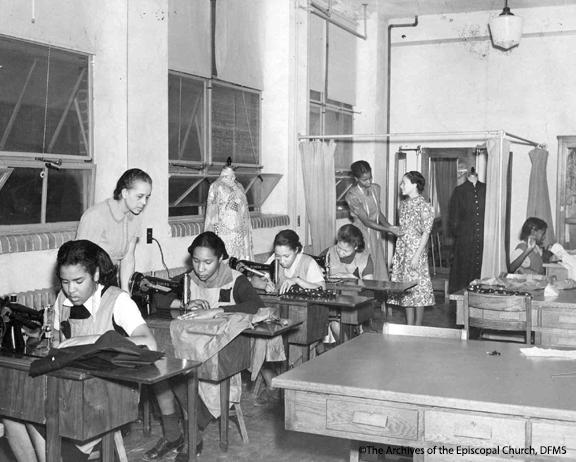 St. Paul's  Girls Sewing Graduation Dresses