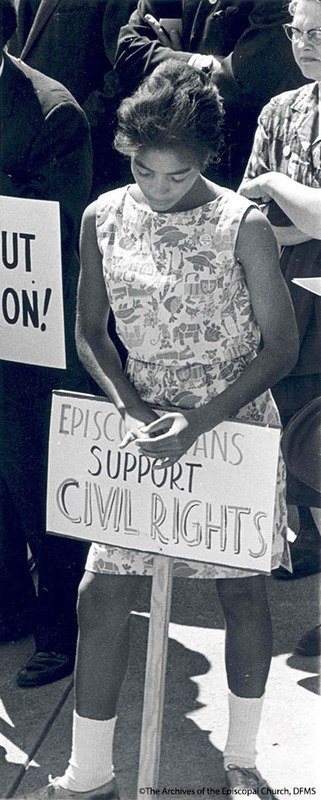 Girl Protesting At March On Washington