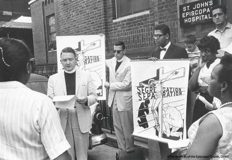 Clergy Protesting Outside Of The Hospital
