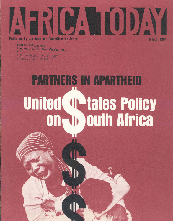 Booklet Published By The American Committee On Africa