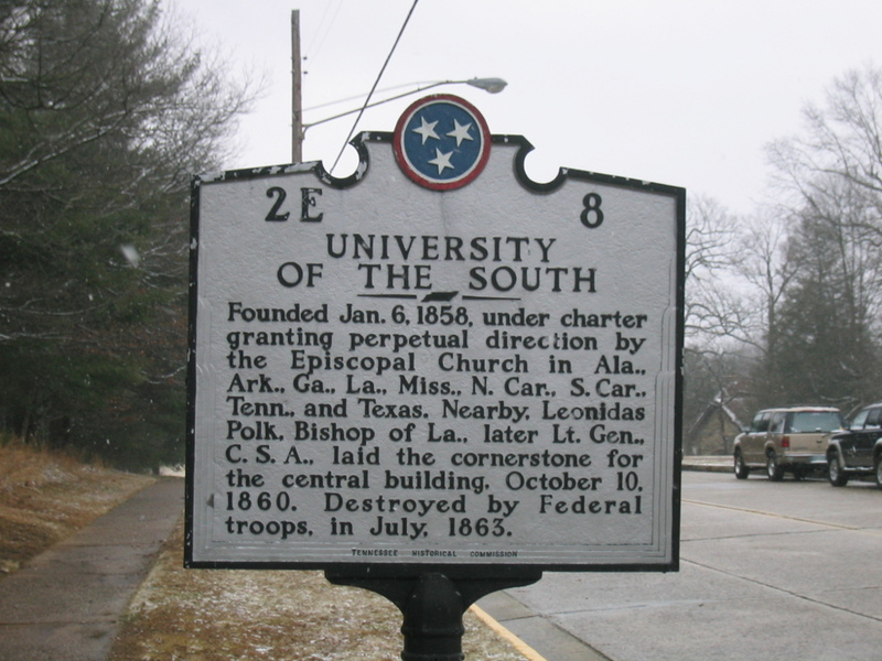 Historic Marker For The University Of The South