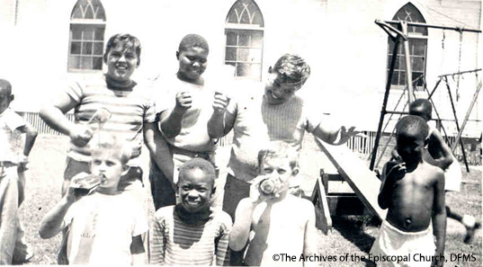 An Integrated Group Of Children At Summer Camp