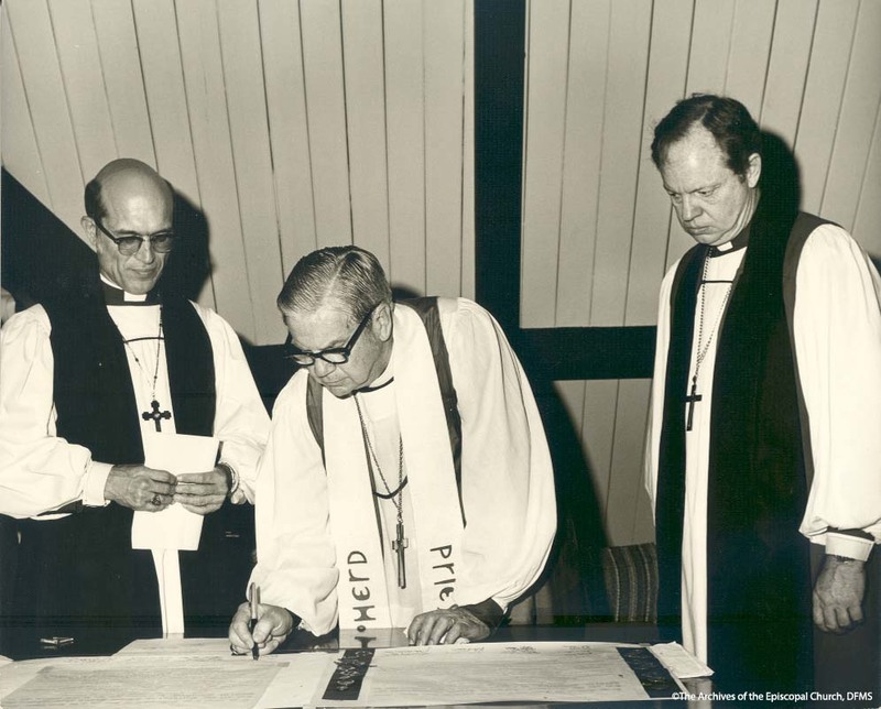 Three Clergy At Gray's Consecration