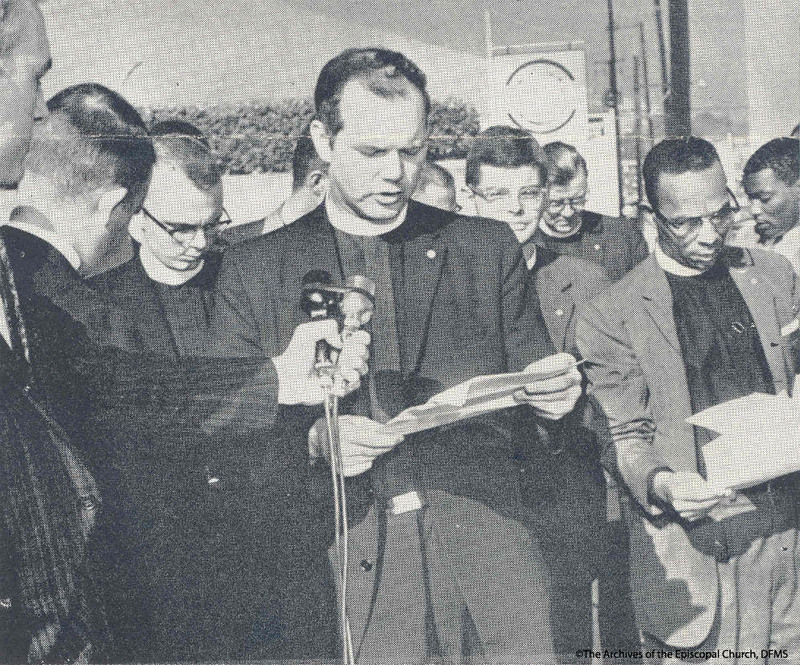 Rev. Pierson Reading Statement To Media, 1961