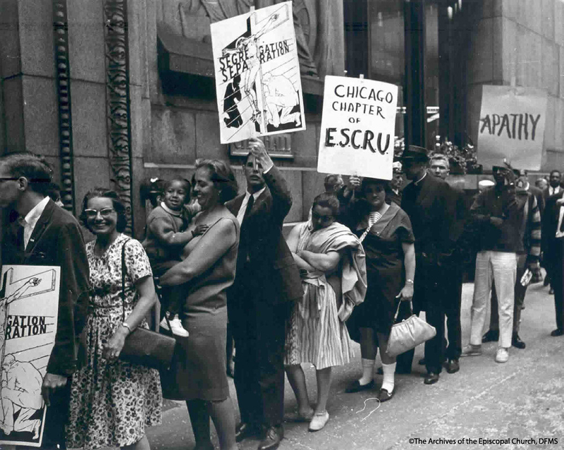 ESCRU Marching At Chicago City Hall