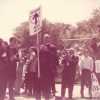 Boyd At ESCRU Demonstration, Chicago 1965