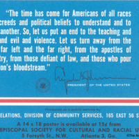 Poster With Quotation From LBJ