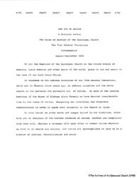 Draft Of Pastoral Letter, September 1993