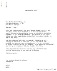 Letter From Lovett To Mrs. King