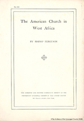 The American Church In West Africa