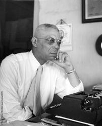 Harris At Typewriter