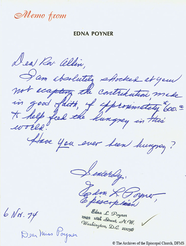 Poyner Letter Of Concern About Rejected Donation