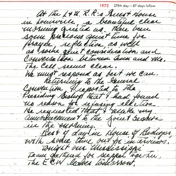 Allin GC 1973 Journal Entry 3
