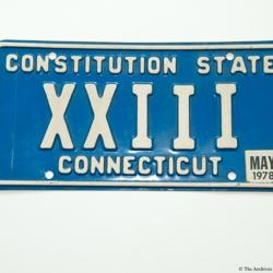 License Plate Artifact 57