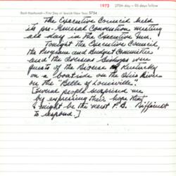 Allin GC 1973 Journal Entry 1