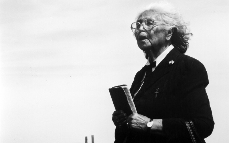 Sister Margaret Hawk, a member of the Church Army, was deeply involved in missionary work on Pine Ridge Reservation from 1963 until her death.